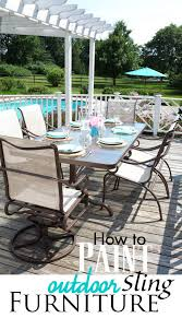 painting patio furnitureHow to Paint Outdoor Furniture with Sling Seats  InMyOwnStyle