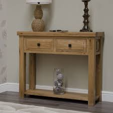 hall table furniture. Homestyle GB Deluxe Oak Hall Table - 2 Drawer Furniture K