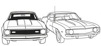 Small Picture Free Printable Muscle Car Coloring Picture For Boys
