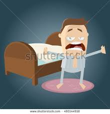 going to bed clipart.  Clipart Clipart Of A Tired Man Going To Bed For Going To Bed Clipart O