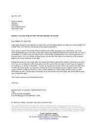 collection lettercollection agency template sample form inside collection letter to client