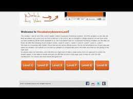 Vocab Answers Level D Vocab Level D Answers At Vocabularyanswers Net Youtube