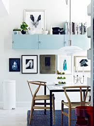 Blue Dining Room Design With Storage Ideas