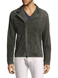 john varvatos typon suede moto jacket grey men apparel coats jackets leather shearling john