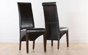 boston dark brown leather dining chair wenge leg
