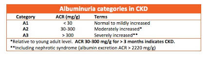 Microalbumin Levels Chart Acr National Kidney Foundation
