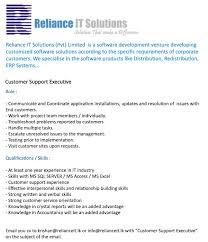 Customer Service Orientation Skills Customer Support Executive