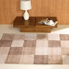 square rug in beige cream and brown to expand