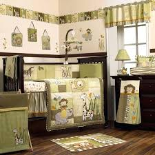 animal print crib bedding set safari jungle animals green and brown nursery crib pertaining to amazing