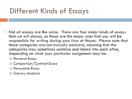 composition the writing process ppt different kinds of essays