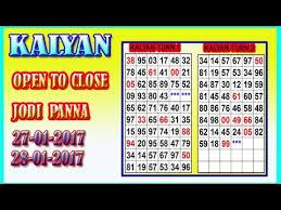Lacky Number 28 01 2017 Kalyan Jodi Panna 28 01 2017