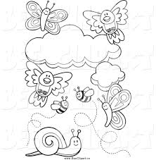Small Picture Royalty Free Coloring Pages to Print Stock Bee Designs
