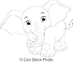 Baby Elephant Coloring Pages Free Printable Baby Elephant Coloring