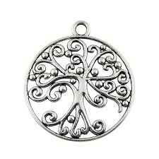 2019 charm tree round tree of life pendant charms for jewelry making antique silver round charms 50x57mm from amsunshine 34 78 dhgate com