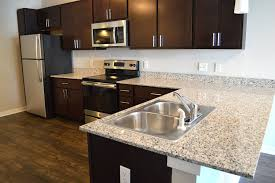stone kitchen countertops. Large Granite Kitchen Countertops Really Set A Luxurious Upscale Vibe In The Main \u0026 Stone Apartments G