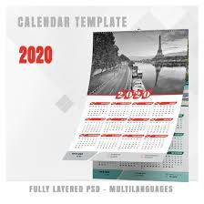 Photoshop Calendar Template 2020 Calendar Template 2020 N 3