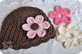 Easy Crochet Flower Patterns Free Simple Easy Crochet Flower Hat Pattern Dancox For
