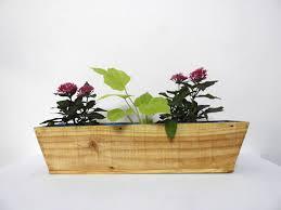 wood railing planter boat l