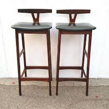 Mid Century Modern Bar Armless Bar Stool With Unique Back Design
