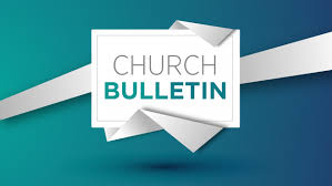 Image result for church bulletin