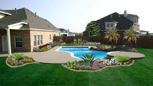 cool home office designs practical cool. Fantastic Front Yard Landscaping Designed With Cool Outdoor Pool And Beautiful Flowers Around It Practical Tips Office Home Designs C
