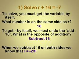1 solve r 16 7 to solve you must get the