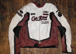 leather motorcycle jacket cafe racer