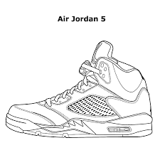 Air Jordan Coloring Pages Shoes Fresh Coloringsuite For