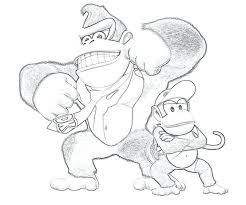 Donkey Kong Coloring Pages At Getdrawingscom Free For Personal