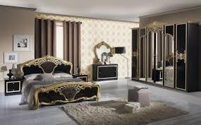 Edles Italienisches Barock Schlafzimmer In Schwarz Gold Edeline Set