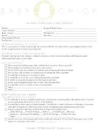 Birth Plan Maker Editable Birth Plan Template Templates The Free Website