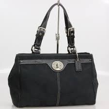 Coach shoulder bag signature medium carry oar handbag black