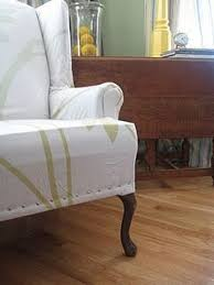 no sew wing chair slipcover