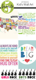 How To Use Kid Wall Art To Decorate A Room Free Printable Included