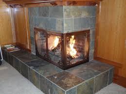 corner fireplace door gallery