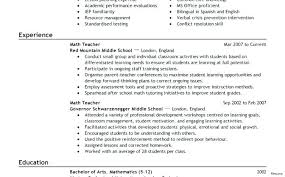Objective For Education Resume Teaching Objectives For Resume First Year Teacher Resume College