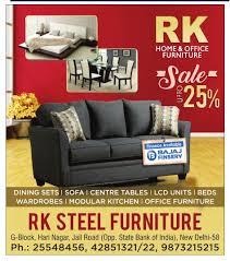 Rk Steel Furniture Sale Upto 25 Off Ad Advert Gallery