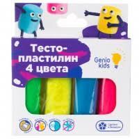 <b>Набор</b> для детской лепки из 4 цветов «Тесто-<b>пластилин</b>» <b>Genio</b> ...