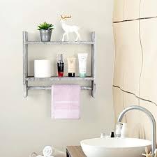 wall mounted shelf with towel bar rack