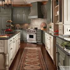 Kitchen Interior Colors Painted Cabinets In Neutral Colors Sage With Cocoa Glaze And