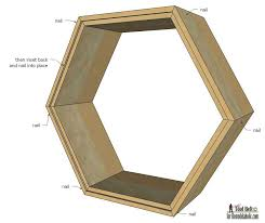create modern and unique wall decor with a gallery of geometric display shelves free plans