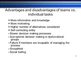 self managed teams advantages and disadvantages of self manage work teams research