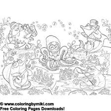 Story Time Ocean Musicians Coloring Page 1335 Ultimate Coloring