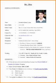 5 Biodata Format Job Application Legacy Builder Coaching