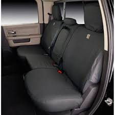 covercraft rear seat cover seatsaver carhartt gravel for 60 40 split bench seat supercrew f