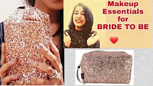 21 things to keep in your makeup kit makeup bag for bride to be