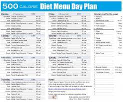Calories Diet Chart Weight Gain 500 Calorie Diet Menu Plan Dietplan Dietplan500calories In