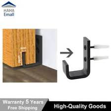 black sliding barn door hardware door bottom floor guide wall guide with s