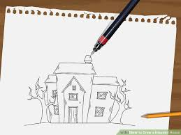 image led draw a haunted house step 6