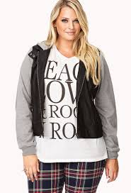 284d5 e6f04 lyst forever 21 plus size cool girl faux leather jacket in